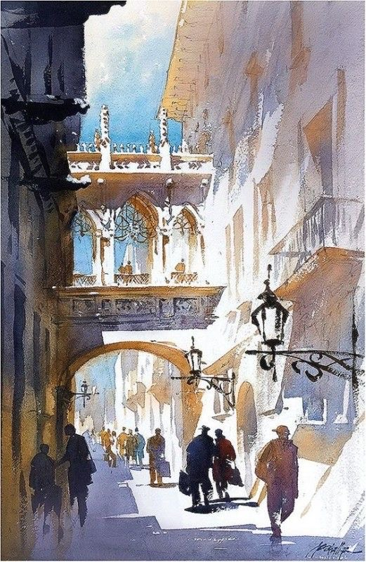 Shadows and light in Barcelona por Thomas W. Schaller